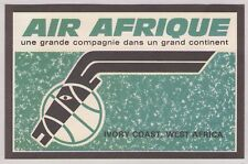 IVORY COAST, WEST AFRICA ~ AIR AFRIQUE AIRLINES LUGGAGE LABEL