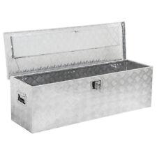 "49"" Aluminum Camper Tool Box W/ Lock Pickup Truck Bed ATV Trailer Storage"
