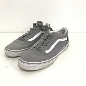Vans Trainers Women's UK 5.5 Grey Suede Leather Lace Up Casual Shoes 492063