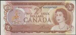 1974 $2 Two Dollar Canada Bill - 3 Serial Numbers (Crow/Bouey)