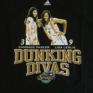 Candace Parker Lisa Leslie Dunking Divas T Shirt Sz XL Los Angeles Sparks NWT