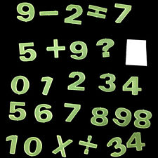 Glow In The Dark Number Figure Fluorescent Educations Stickers Kids Bedroom U FE