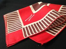 "#5581🌟Vintage Cutter 30s Geometric Embroidery Monogram ""N"" Pocket Handkerchief"
