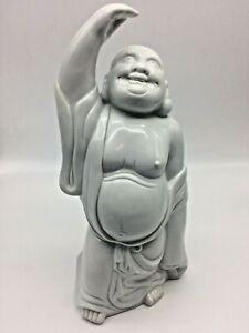 """Porcelain Buddha Vintage Japanese Hotei Large Happy White Laughing Kutani 12.5"""""""