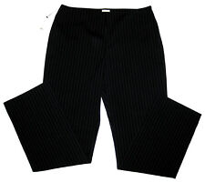 Anne Klein Black Gray Pinstripe Pants Womens Size 12 Work 32x32 Retail $138 NWT