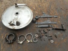 1964 BSA GOLDEN FLASH A10 650 FRONT DRUM BRAKE GOOD SHOES EXHAUST FLANGE MISC