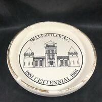 Commemorative Ceramic Ashtray McAddenville NC Centennial 1981