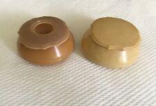 2 Vintage Lyralin (Pyralin?) Dubarry Celluloid Vanity Jars With Lids