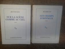 Lot 2 de  livres Jean Rouaud sur la scène comme au ciel + Les champs d'honneur