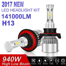 940W H13 9008 LED HEADLIGHT KIT 6500K WHITE HI/LO BEAM BULBS BALLAST PAIR HID