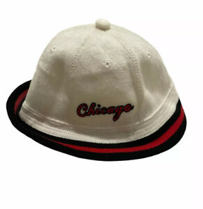 Vintage Nike Chicago Bulls 1984 Red/White/Black Embroidered Bucket Hat Size M/L