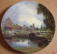 Royal Doulton Large Collectors Plate DEDHAM LOCK AND MILL Constable