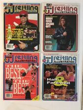 Lot of 4 1992 Pro Wrestling Illustrated PWI May Jun Jul Aug Hogan Piper WCW WWF