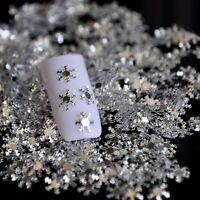 Nail Art 3D Silver PET Glitter Sheet Love Snow Flakes Snowflake Missing Winter