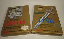 Nintendo NES ZELDA & LINK Complete CIB Gold Games with Working Saves Good Shape