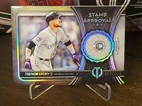 2020 Topps Tribute Baseball STAMP OF APPROVAL MLB Relic TREVOR STORY 003/150