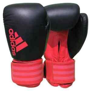 adidas Hybrid 200 Womens Boxing Gloves - Black/Red - 12oz