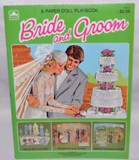 NEW-1981 GOLDEN BOOK-BRIDE &/AND GROOM PAPER DOLL-6 DOLLS + 30 FASHIONS & ACCS.+