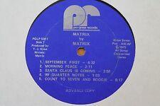 MATRIX Self-Titled LP (Pro-gress PGLP 5001) Acid Jazz Boogie Funk Break HEAR