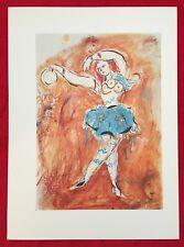 Marc Chagall,The Ballet, A Dancer, Offset Lithograph 1969, Mourlot Paris