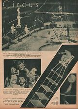 CIRCUS WALLENDA FAMILY ACT- 1935 HIGH WIRE ACT PHOTO COLLAGE