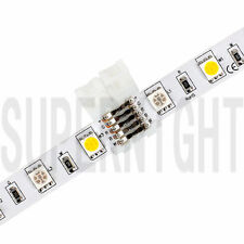 SUPERNIGHT® 10Pcs Plastic 5Pin Clip Connector For 10mm 5050 RGBW LED Strip Light
