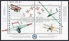 Canada 1807 ad,1808 ap sheets,MNH. Canadian International Air Show,50th Ann.1999