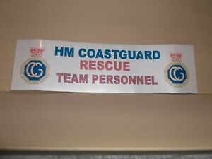 HM Coastguard Rescue Team Personnel 25cm X 7cm vinyl sticker..