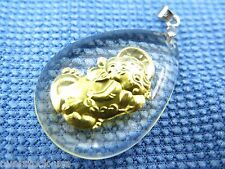 NEW 999 Gold Bless Kindness Man-made Crystal dragon son Pendant