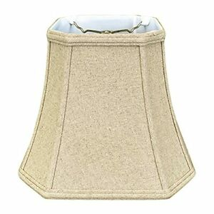 Royal Designs Square Cut Corner Bell Lamp Shade Linen Cream 10 x 18 x 14.5