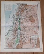 1938 ORIGINAL VINTAGE MAP OF PALESTINE ISRAEL HOLY LAND LEBANON