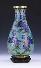A CHINESE ANTIQUE CLOISONNE ON BRONZE VASE, QING DYNASTY