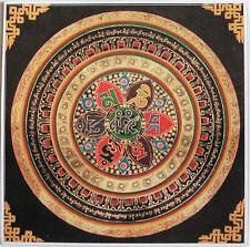 Hermosa plaza Mandala Om Mani Padme Hum budista Pegatina una cara 10cm
