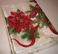 "St Nicholas Square Merry Christmas Celebrate Peace & Joy Tablecloth 60 x 84"""