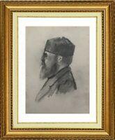 CHARLES WISLIN (1852-1932) SUPERBE PORTRAIT D'HOMME MERIGNAC VERS 1876 (1241)