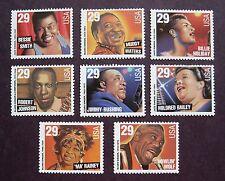 Sc # 2854-2861 ~ 29 cent Jazz / Blues Singers Issue (bg22)