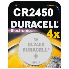 4x CR2450 DURACELL Electronics Lithium Knopfzelle DL2450 3Volt