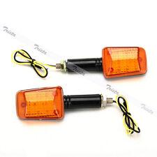 2x9 LED Amber Motorcycle Bike Turn Signals Indicator Light Universal Orange #J32