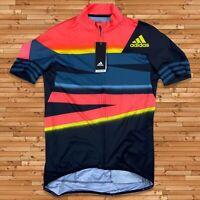 New $160 Adidas Men's Cycling Jersey Maillot Size Large Pro Bike Team Training