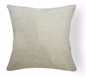 Qa101Ca Tan Brown Rough Linen Blend Check Stripe Cushion Cover/Pillow Case*Size