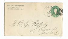 1891 J H Doxee & Son - Islip, Ny Canceled Cover