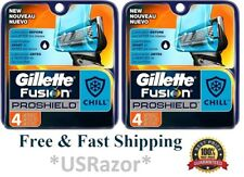 8 Gillette Fusion Proshield Chill Razor Blades Refills Cartridges fit Power 4