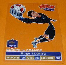 HUGO LLORIS CARTE PITCH TEAM PASQUIER FOOTBALL EQUIPE FRANCE 2012 FFF PANINI