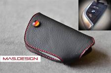Black with Red stitch style for 2015 BMW X5 (F15) X6 (F16) key fob Key case