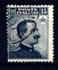 """ITALIA - Regno - 1909 - Michetti """"nero"""", stampa tipografica (II tipo) - 15 c."""