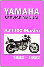 YAMAHA Workshop Manual XJ1100 XJ1100J Maxim 1982 1983 Maintenance Service Repair