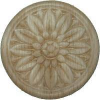 "OAK Embossed Wood Ornament 3 1/2"" Rosette   W35799"