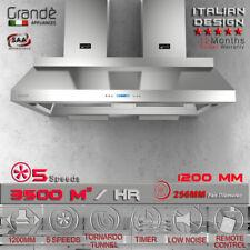 1200mm X 800mm Commercial Canopy Alfresco Indoor Outdoor Bbq Angle Rangehood