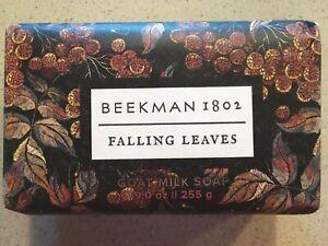 Beekman 1802 Falling Leaves Goat Milk Bar Soap 9 oz Brand New Sealed