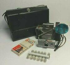 Polaroid Automatic 100 Folding Land Camera with Case and flash